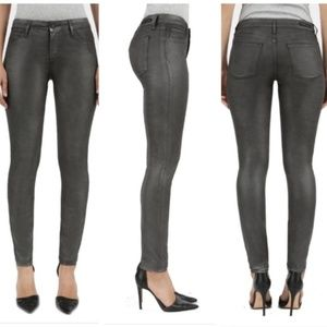 Articles Of Society 16 Waxed Metallic Skinny Jeans